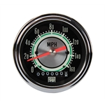 Stewart Warner 530DH Green Line 160 MPH 3-3/8 In. Electric Speedometer