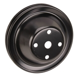 Double Groove Water Pump Pulley, Big Block Chevy, Long Pump, Black