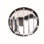 Finned Pol Alum Rearend Differential Cover, GM 8-1/2 Inch 10 Bolt