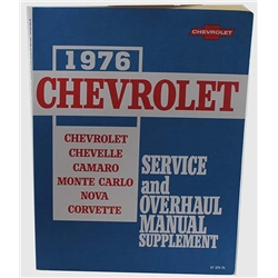 Dave Graham 76000 1976 Chevrolet Service and Shop Manual