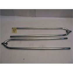 Garage Sale - Front Hairpin Radius Rods, 27 Inch, Chrome Steel
