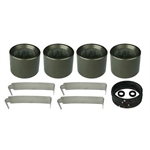 Afco 6690263 F22 Forged Aluminum Caliper Rebuild Kit, 1.38 Inch Bore