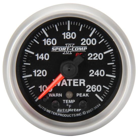 new auto meter 2 1 6 electric water temp gauge 100 260. Black Bedroom Furniture Sets. Home Design Ideas