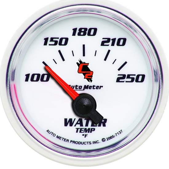 Auto Meter 7137 C2 Air-Core Water Temperature Gauge, 2-1/16 Inch
