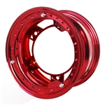 Aero 53-980540RED 53 Series 15x8 Wheel, BL, 5 on WIDE 5 BP, 4 BS, IMCA