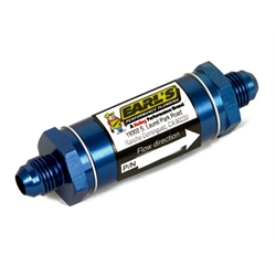 Earls 230304ERL In-Line Oil Filter, -4 AN, Blue Anodized