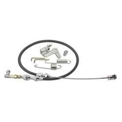 Lokar DP-1000U36 36 Inch Duo-Pak Black Throttle Cable Kit, Stainless