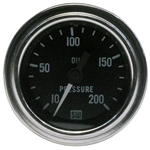 Stewart Warner 82324 Dlx 2-1/16 Oil Pressure Gauge, Mech, 10-200 PSI