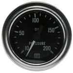 Stewart Warner 82324 Dlx 2-1/16 Oil Pressure Gauge, Mech, 10-200 PSI