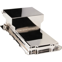 Chrome Steel GM LS 7 Quart Oil Pan, -10 AN Fitting