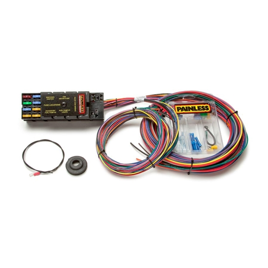 painless wiring 50001 10 circuit race only chassis harness ebay