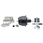 55-57 Fullsize Chevy Brake Booster Kit, 1-1/8 In Bore, Black