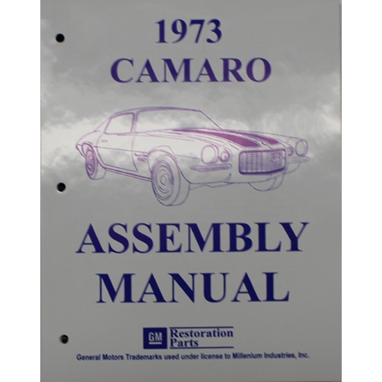 1973 Camaro Assembly Manual