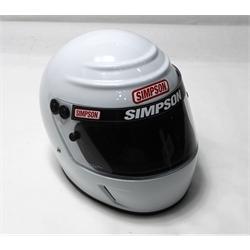 Garage Sale - Simpson Voyager Evolution SA2010 Racing Helmet, White, Size 7-3/8