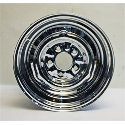 Garage Sale - O/E Style Hot Rod 15 Inch Steel Wheel, Chrome, 15 x 5, 5 on 4-3/4