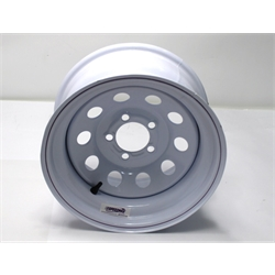 Garage Sale - White Circle Track 15 Inch Wheel, 15X8, 5 on 4-1/2, Non-Beadlock, 4 Backspacing