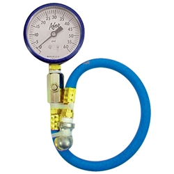 AFCO 85360B 0-60 psi Tire Air Pressure Gauge, Blue
