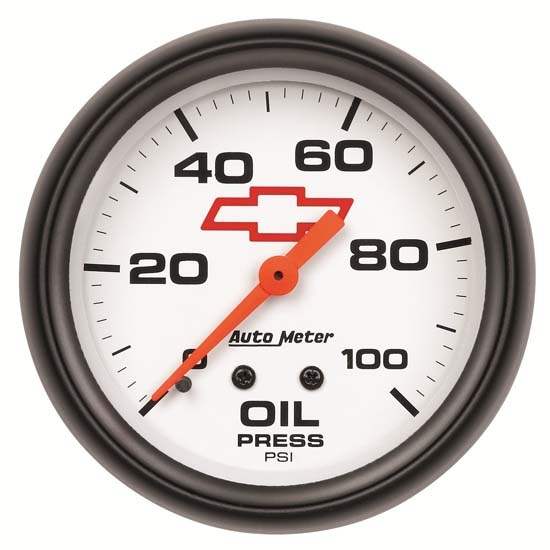 Auto Meter 5821-00406 GM White Mechanical Oil Pressure Gauge