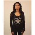 Chopper Dolls Cocked and Loaded V-Neck Long Sleeve