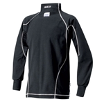 Sparco Ice Nomex X-Cool Underwear Top/Long Sleeve Shirt, Black Medium