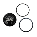 Weld Racing C0323B Midget/Sprint Billet Aluminum Dust Caps, Black