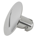 Aluminum Large Head Quarter Turn Fastener, .500 Inch Grip