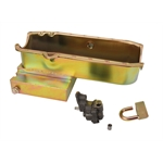 Small Block Chevy Claimer Oil Pan w/ Plug Combo, Stock Pump, RH Dipstick