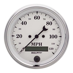 Auto Meter 1680 Old-Tyme White Air-Core Speedometer, 3-3/8 Inch