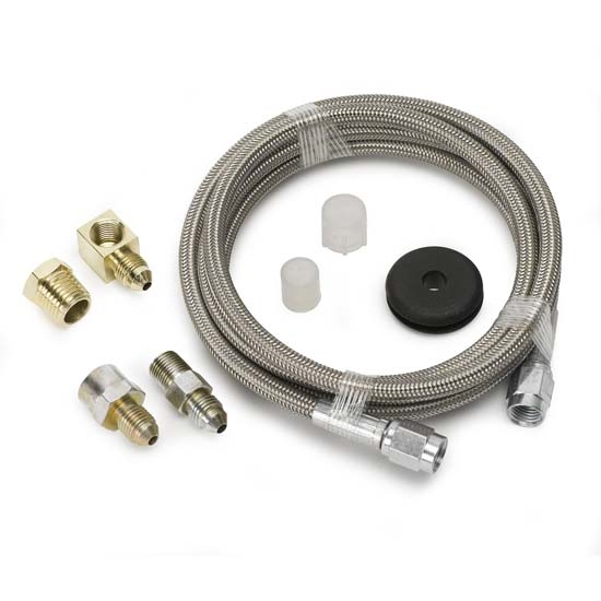 Auto Meter 3236 Stainless Line Kit for Pressure Gauges, -3 AN, 6 FT