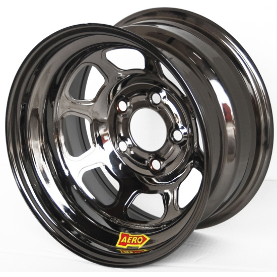 Aero 50-924550BLK 50 Series 15x12 Wheel, 5 on 4-1/2 BP, 5 Inch BS