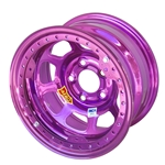 Aero 53-984510PUR 53 Series 15x8 Wheel, BL, 5 on 4-1/2, 1 Inch BS IMCA