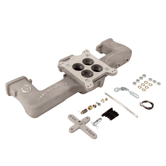 Offenhauser 5416 Single Quad Carb Intake Manifold Kit For