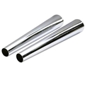 Chrome Exhaust Megaphones, 2 x 4 x 24 Inch