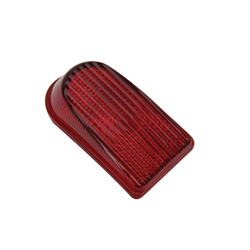 1949-50 Chevy Taillight Lens, Red Glass