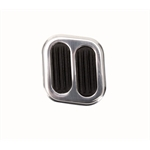 Universal Street Rod Dimmer Switch Pad, Polished Aluminum