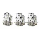 Set of 3 Speedys 9 Super 7    Chrome 3-Bolt 2 Barrel Carburetors
