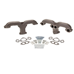 Smoothie Rams Horn Exhaust Manifolds, Small Block Chevy, Raw