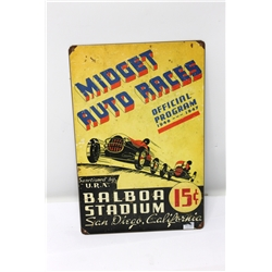 Garage Sale - Midget Races Metal Sign