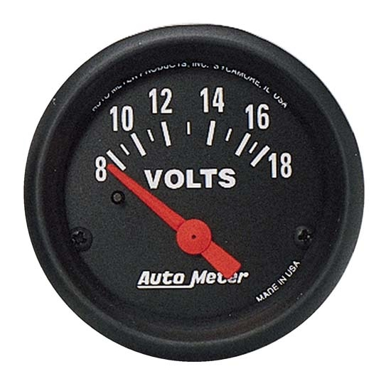 Auto Meter 2645 Z-Series Air-Core Voltmeter Gauge, 2-1/16 Inch