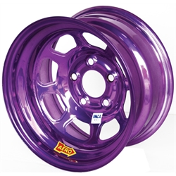 Aero 52-984530PUR 52 Series 15x8 Wheel, 5 on 4-1/2 BP, 3 Inch BS IMCA