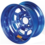 Aero 52-985010BLU 52 Series 15x8 Inch Wheel, 5 on 5 BP, 1 Inch BS IMCA