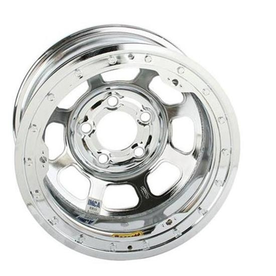Bassett 48S54CB 14X8 D-Hole 5 on 5 4 In Backspace Chrome Beaded Wheel