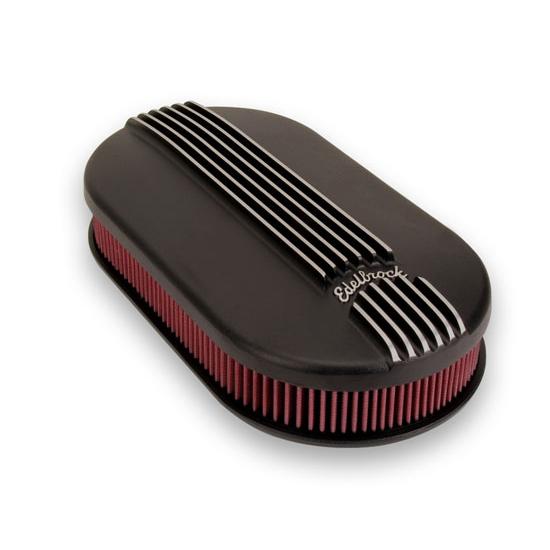 Edelbrock Air Cleaner : Edelbrock dual quad black air cleaner ebay