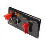 Longacre 44897 Carbon Fiber Starter Switch Panel, Cover & Master Switch