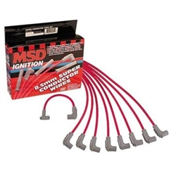 MSD 35599 8.5mm Spark Plug Wires Set, S/B Chevy HEI, Under Headers