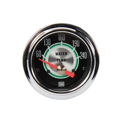Stewart Warner 311CC 2-1/16 Green Line Elect. Water Temperature Gauge