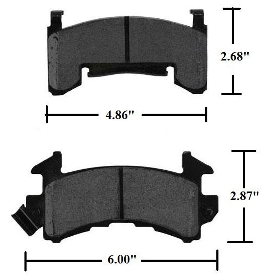 Speedway Soft Street Brake Pads, GM Metric 1978-UP