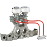Chrome 9 Super 7   Carbs on Eddie Meyer Intake Manifold Kit, 1949-53 Ford V8