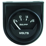 Auto Meter 2362 Auto Gage Air-Core Voltmeter Gauge w/Panel, 2 Inch
