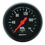 Auto Meter 2605 Z-Series Mechanical Oil Pressure Gauge, 200PSI, 2-1/16